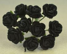 1 cm MIDNIGHT BLUE (black) Mulberry Paper Roses